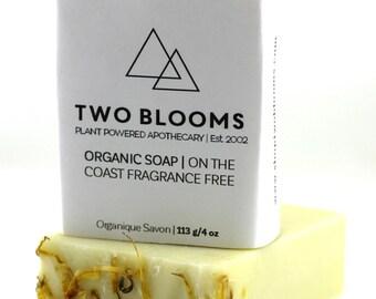 Organic Fragrance Free Calendula Soap, Handmade, Unscented Soap, Vegan, Soap Victoria BC Vancouver Island Canada