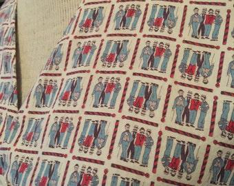 40s Mens Novelty Print Cotton PJ Robe