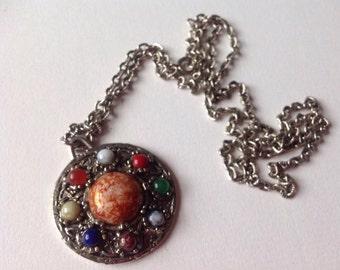 Vintage Celtic Shield Design Necklace /Pendant /1970-s