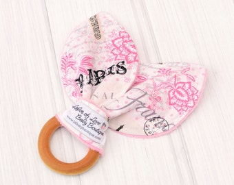 Organic Baby Toys - Paris Eiffel Tower - Baby Toys - Best Teething Toys - Baby Girl Toys - 1368