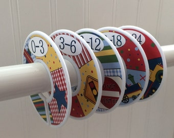 5 Baby Closet Dividers Baby Shower Gift Clothes Dividers Closet Organizers CLEARANCE SALE