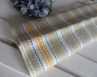 Free Shipping Worldw Towel  Art Deco Linen  Diamonds  Yellow Blue  Stripes  Kitchen Runner Dish Cloth Napkin Torchon Upholstery Unused