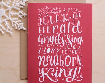 Christmas Card - A2 - Hark the Herald Angels Sing