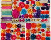 DIY Headband Making Kit - Bollywood - India - Moroccan - Baby Shower Headband Station - Your Choice: MAKES 20 + or 25+ HEADBANDS!
