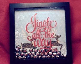 Shadow Box Decal Jingle All The Way.