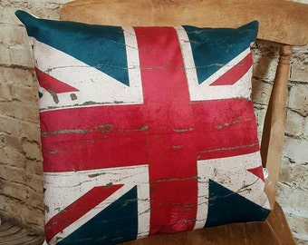 Handmade Velvet Union Jack Square Cushion With Or Without Inner