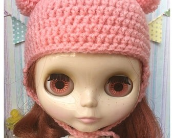 """Neo Blythe Outfit : """" Bunny Hat"""" (Chochet Hat)"""