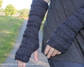 knitting pattern - extra long mittens, arm warmers - Listing09