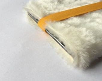"fake fur iPad mini case, ipad padded case cover, cool, faux fur, tablet cover - ""creamy white"""
