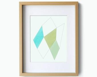 Home decor, wall art, geometric art print