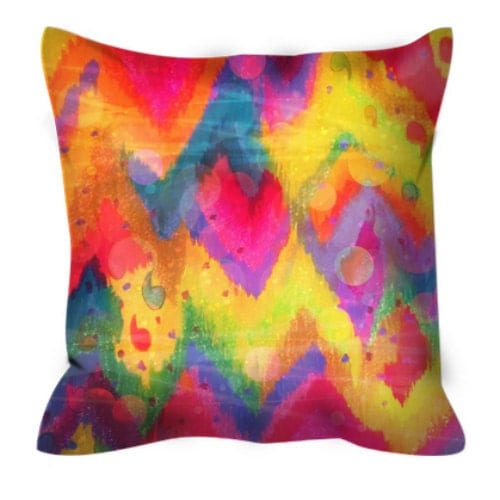Bold Quotation In Neons Art Suede Throw Pillow Cushion Hot