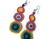 Whimsy Hand Beaded Sead Bead Earrings (007E)
