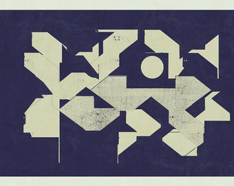 Abstract composition 762 - modern art - minimalism - geometric - 84 x 60 cm - A1 - Limited edition
