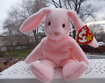 Ty Pink Bunny Hoppity 1996,Ty Animals,Ty Toys,Vintage Ty Toys,Vintage Stuffed Animals,Bunny/Not included in Coupon  Sale New listing :)S