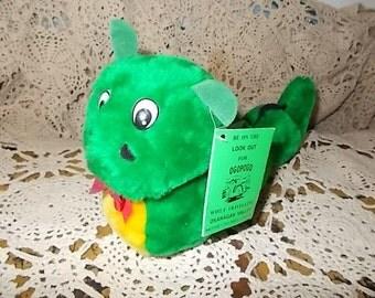 Ogopogo Monster of the Okanagan Lake Monster Plush Toy,Okanagan Lake,Monster,Vintage Stuffed Toys,Toys, Green Monster, /:)S