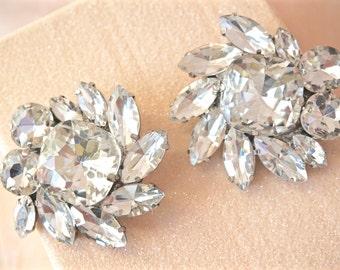 Rhinestone Shoe Clips, Crystal Shoe Clips, Bridal Shoe Clips, Wedding Shoe Clips, Bridal Accessories, Wedding Accessories