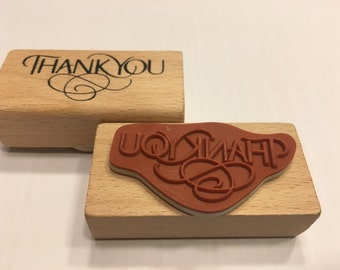 Thank you, rubber stamp, 45 mm (SB3)