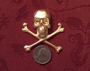 One Large Skull and Crossbones Decorative Element  SHIPPING INCLUDED