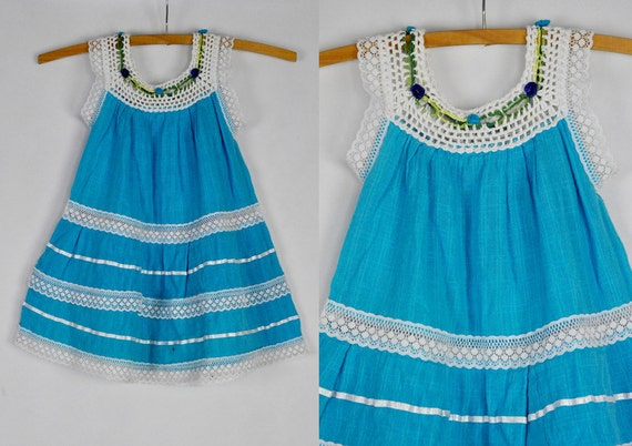 Mexican dress embroidered baby girl boho