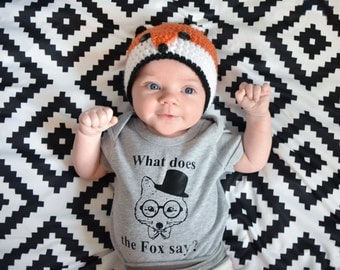 Mr Fox Onsie sizes NB-12 Months or Tshirt 18 months to 2T