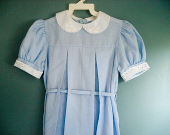 Sweet light blue dress - size 8 years