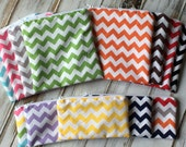 Chevron (Optional Personalization) Reusable Sandwich and Snack Bags with Zipper Closure