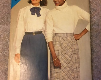 1980s Original Vintage Misses Skirt Butterick See & Sew Sewing Pattern #5272 Size A (8-10-12)