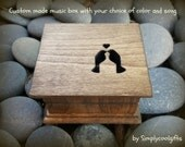 music box, wooden music box, custom made music box, love birds, personalized music box, musical box, wedding favor, valentines day gift