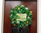 Eat, Drink and Be Irish St. Patricks's Day Wreath