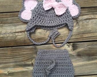 Crochet Elephant Diaper Cover
