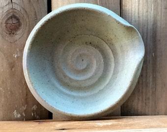 Handmade Swirl Ashtray Ceramic Dish