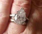Reserved - Vintage CZ Engagement Ring Vintage Rings Pear Shaped Engagement Ring