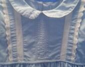 Vintage 1950's blue dress, special occasion, Easter dress
