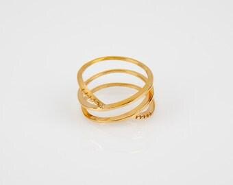Siren Trois Ring | stacking ring, gold stacking ring, thin gold ring, simple ring, dainty gold ring, rose gold ring