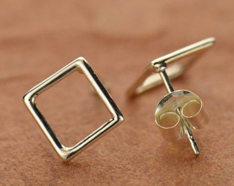 Sterling Silver Square Post Earring
