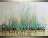 "Large Abstract Painting Original Art 36"" Abstract Landscape Painting ORIGINAL Wall Art Painting Teal Abstract Art Acrylic Painting - Tatjana"