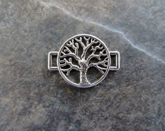 5 Small Tree Bracelet Connectors Nature Wicca Connector Charms Jewelry Supplies 27x20mm