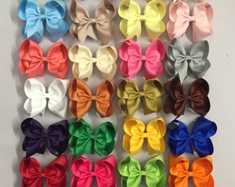 "5"" Solid Color Hair Bows"