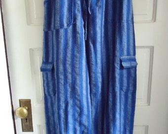 Vintage 90s GUATEMALAN COTTON Drawstring Pants sz S/M
