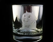 Much Liquor Doge Shiba Inu Much Etched Rocks Glass So Whiskey Lowball Dog Meme