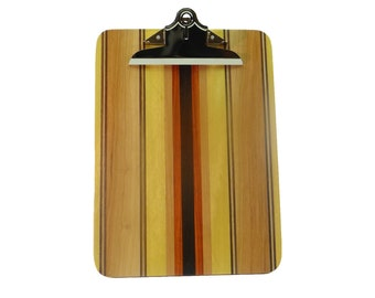 Executive Offset Striped Laminated Wood Clipboard SCB7286