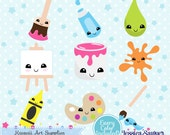 INSTANT DOWNLOAD - Kawaii art clipart and vectors for planner stickers and crafts