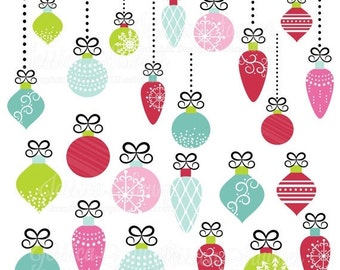 80% OFF - INSTANT DOWNLOAD, christmas ornament clipart for personal and  commercial use