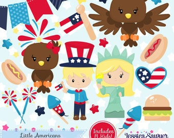 INSTANT DOWNLOAD, Fourth of July clipart and vectors for personal and commercial use