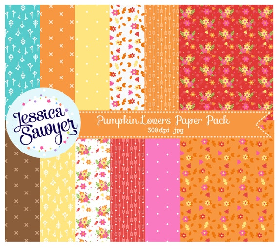 fall digital paper or autumn backgrounds for commercial use or personal use