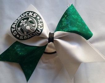 Starbucks and Backtucks Cheer Bow