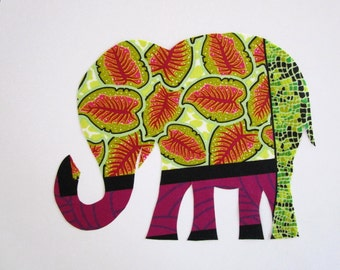 "Elephant Patch X Large 9 "" Iron On Tribal"