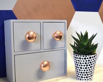 Copper Hammered Cupboard Knobs