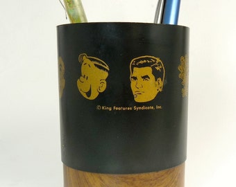 Vintage Pencil Holder King Features Syndicate Comic Characters Desk Set