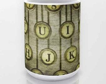 Typewriter Keys, Ceramic Coffee Mug, Tea Mug, Photo Mug, Fine Art Photography, Still Life Photography